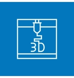 Tree D printing line icon vector image vector image