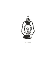 vintage hand drawn lantern concept perfect for vector image vector image