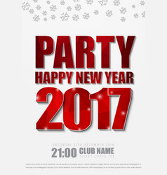 White poster design for new years party in 2017 vector
