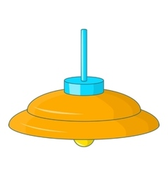 Yellow ceiling lamp icon cartoon style vector
