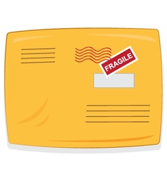 yellow shipping envelope isolated vector image