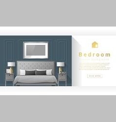 Interior design modern bedroom background 3 vector
