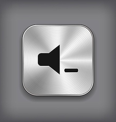 Speaker volume quiet icon - metal app butto vector