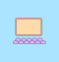 Cinema hall in flat style vector