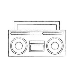 retro radio isolated icon vector image