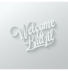 Brazil paper cut lettering background vector