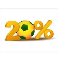 Twenty percent discount icon vector image