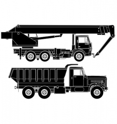 Trucks silhouette vector