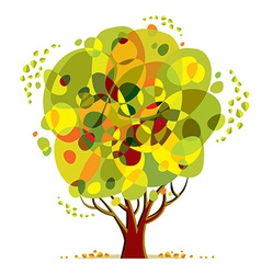 Bright color tree vector