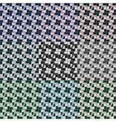 Seamless 3d squares patterns vector