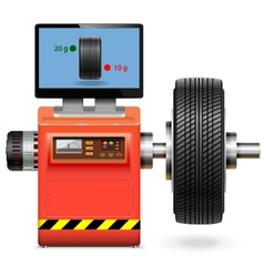 Balancing wheel service vector