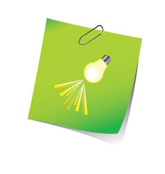 Reminder green with light bulb vector