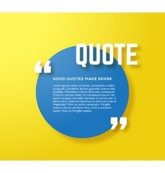 Circle motivation quote template yellow vector