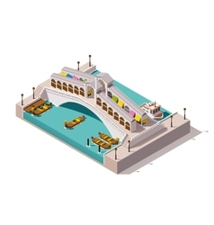 Isometric rialto bridge vector