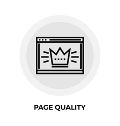 Page quality line icon vector
