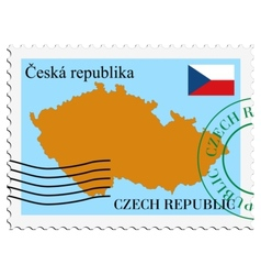 Mail to-from czech republic vector
