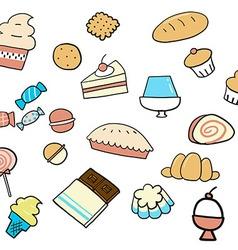 Dessert doodle vector