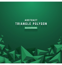 Abstract 3D triangle polygon background vector image vector image