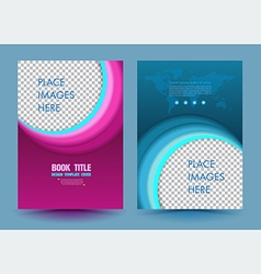 Abstract circle design template layout vector