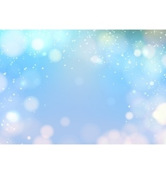 Blue bokeh light vector