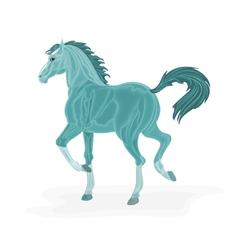Blue-horse vector