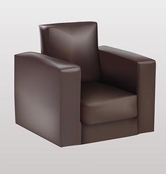 Brown armchair vector