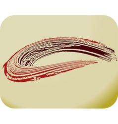 brush stroke curl vector image