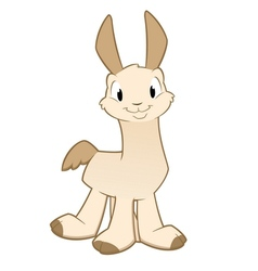Cartoon llama alpaca vector