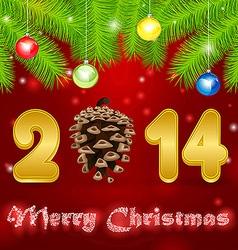 cone 2014 pine vector image