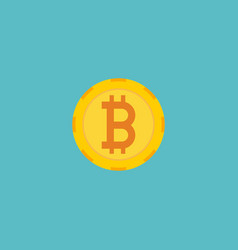 flat icon crypto currency element vector image