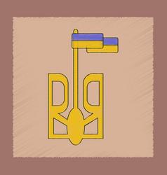 Flat shading style icon emblem of ukraine vector