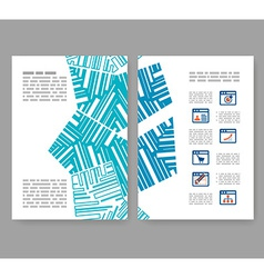 Flyer leaflet booklet layout Editable design vector image