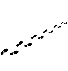 Footprints from shoes vector