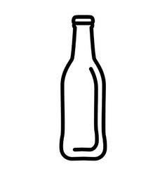 Fresh beer bottle isolated icon vector