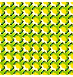 Geometric abstract lime color pattern vector image
