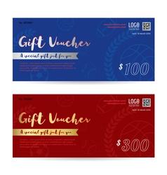 Gift voucher gift certificate gift card template vector