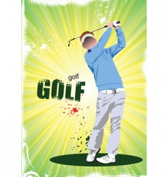 golf poster vector image vector image