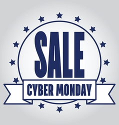 Insignias logotypes cyber monday design eps10 cybe vector