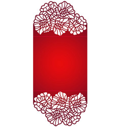 laser cut template vector image vector image