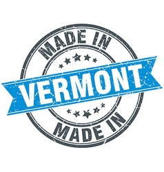 Made in vermont blue round vintage stamp vector