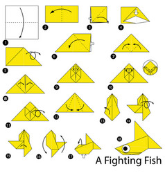 Make origami a fighting fish vector
