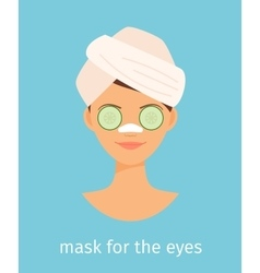 Mask for the eyes vector