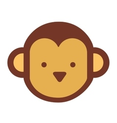 Monkey cute isolated icon design vector