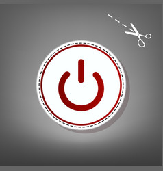 On off switch sign red icon with for vector