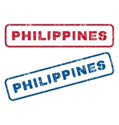 Philippines rubber stamps vector