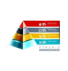 Pyramid infographic design vector image