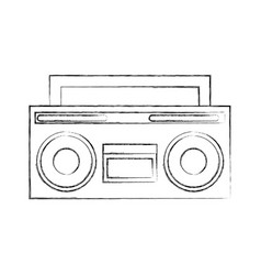 retro radio isolated icon vector image