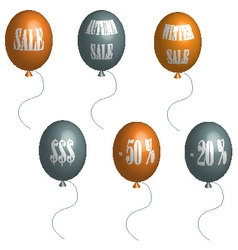 Sale balloons in 3D vector image vector image