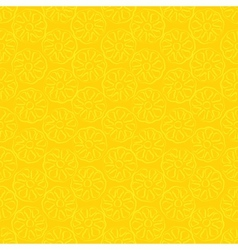 Seamless pattern of yellow pineapple vector image vector image