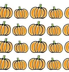 Seamless pumpkin pattern vector image vector image